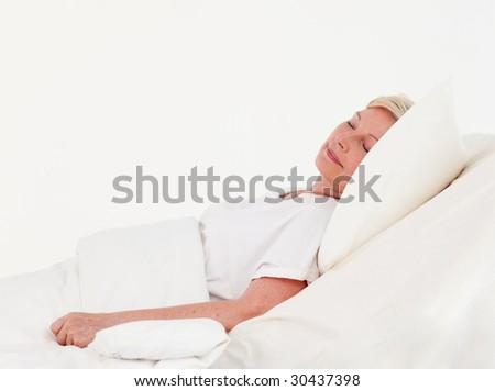 Senior Woman with illness in Hopsital - stock photo