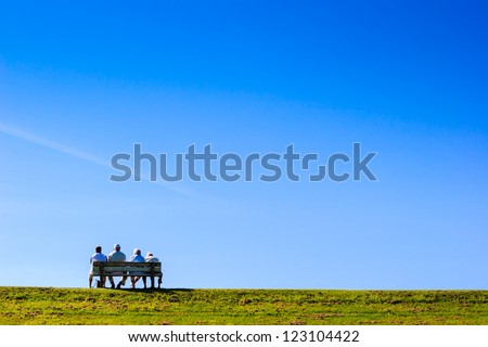 seniors rest themselves - stock photo