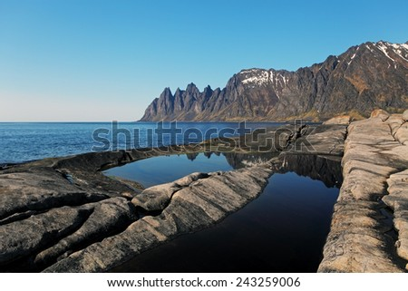 Senja island,Norway - stock photo