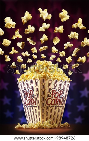 Sensational american popcorn surprise - stock photo