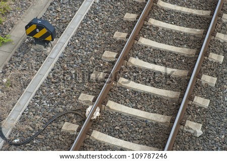 sensor at railway track for electronic control