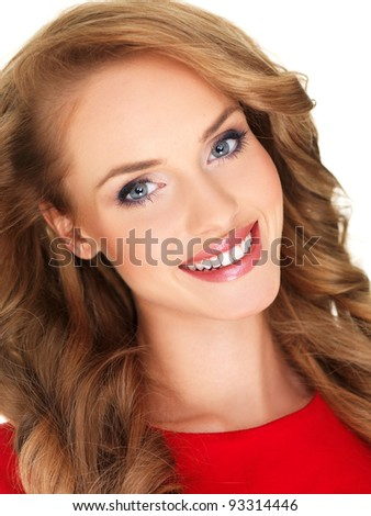 Sensual and attractive young woman portrait - stock photo
