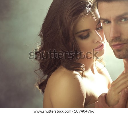 Sensual photo of a young couple - stock photo