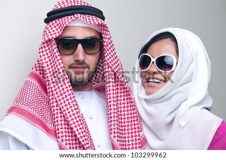 sensual portrait of a fresh beauty arabian girl with hijab - stock photo