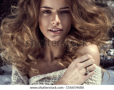 Sensual woman - stock photo
