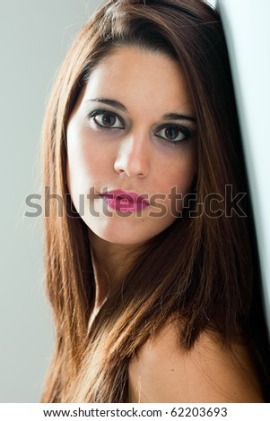 sensual woman portrait - stock photo