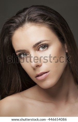 sensual young woman close-up portrait