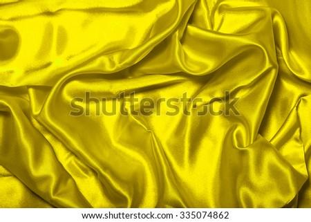 Sensuous Smooth Yellow Satin - stock photo