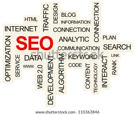 SEO Concept. Created using PS. - stock photo