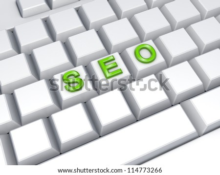 SEO concept.3d rendered. - stock photo