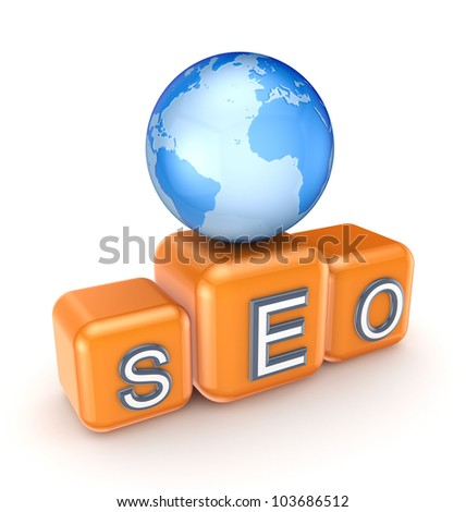 SEO concept.Isolated on white background.3d rendered. - stock photo