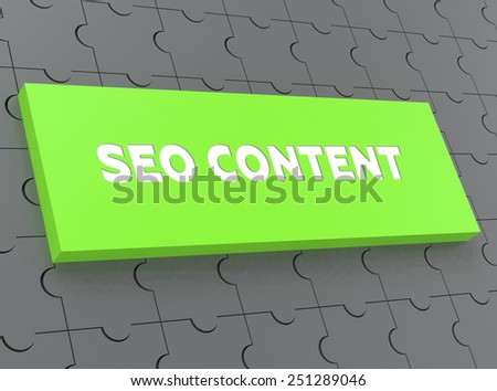 SEO CONTENT - stock photo