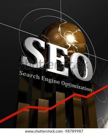 SEO graph - stock photo