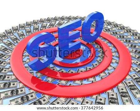 Seo promotion in the design of the information related to the Internet - stock photo