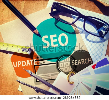 SEO Search Engine Optimisation Availability Concept - stock photo