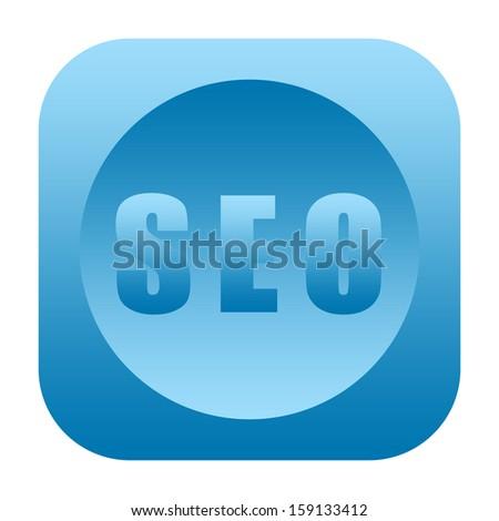 SEO (search engine optimization) icon - stock photo