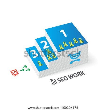 Seo work infographics  - stock photo