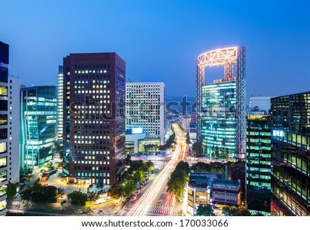 Seoul city - stock photo