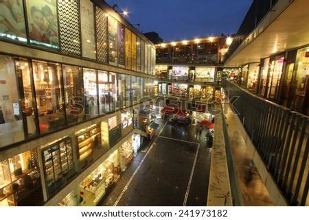 SEOUL, KOREA - OCTOBER 20, 2014 : Ssamjigil shopping mall in Insadong, Seoul, Korea. - stock photo