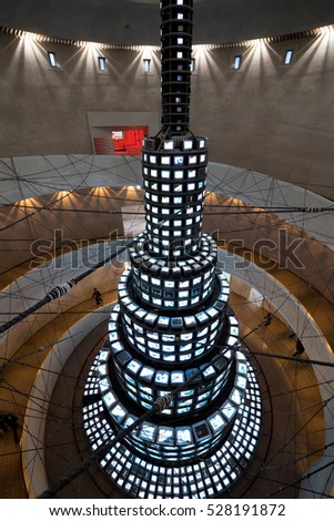 seoul,south korea: tower style architecture with illuminated displays by zhudifeng on Oct 23 2016