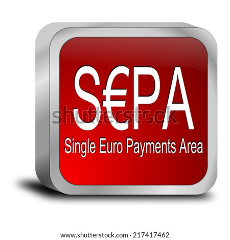 SEPA - Single Euro Payments Area - Button