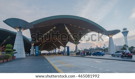 SEPANG, MALAYSIA - 8 AUG 2016: Kuala Lumpur International Airport (KLIA)  is Malaysia's main international airport and one of the major airports in South East Asia.
