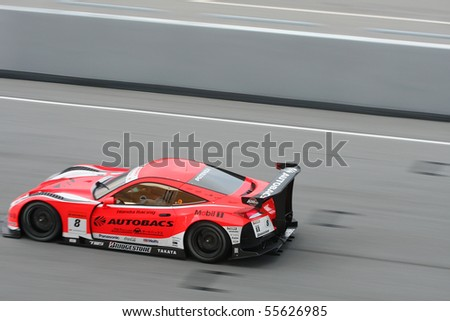 SEPANG, MALAYSIA - JUNE 20 : SuperGT driver in actions during the Malaysian 10th edition of SuperGT International Series on June 20, 2010 in Sepang F1 circuit outside Kuala Lumpur, Malaysia
