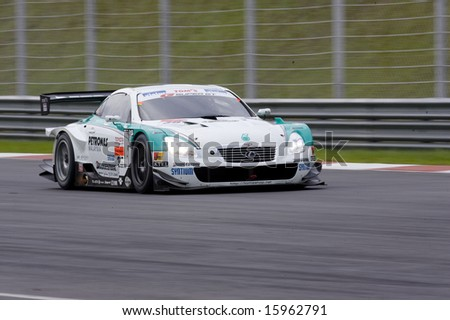 Sepang, Malaysia - June 22, 2008: Team PETRONAS Tom's S430 at practice session  at Super GT Malaysia Championship 2008 - stock photo