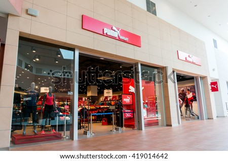 SEPANG, MALAYSIA - MAY 8, 2016: Puma store outlet at Mitsui Mall. Puma is a German company that produces athletic and casual footwear and sportswear. - stock photo