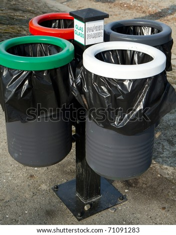 separate collection of rubbish - stock photo