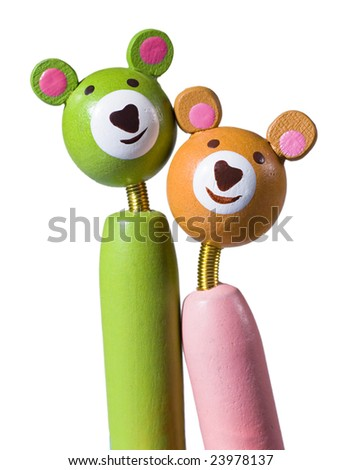 separated lover bears - stock photo