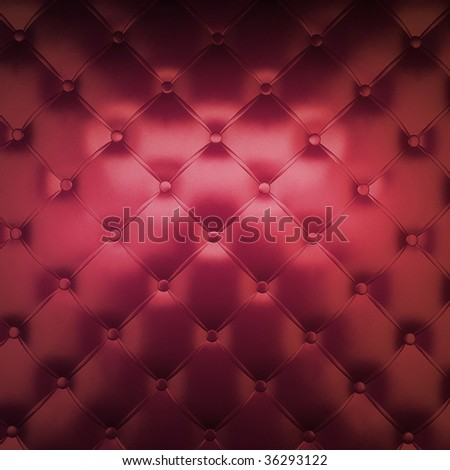 Sepia luxury buttoned red leather - stock photo