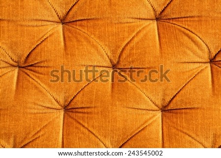 Sepia picture - gold fabric upholstery