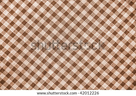 Sepia plaid pattern - stock photo