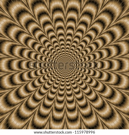 Sepia Psychedelic Pulse/Digital abstract image with a psychedelic circular pattern in sepia coloring producing an optical illusion of movement.