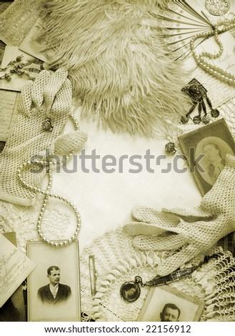Sepia toned vintage background - stock photo