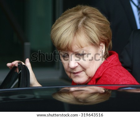 SEPTEMBER 22, 2015 - BERLIN: German Chancellor Angela Merkel, Berlin. - stock photo