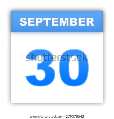 September 30. Day on the calendar. 3d - stock photo