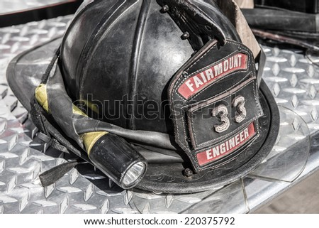 SEPTEMBER 28, 2014- GOLDEN, CO:The Fairmount Fire Protection District currently employs 21 career firefighters, 3 civilians, and over 50 volunteer firefighters. - stock photo