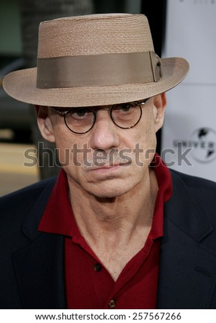 """September 6, 2006. James Ellroy attends the Los Angeles Premiere of """"The Black Dahlia"""" held at the Academy of Motion Picture Arts and Sciences in Beverly Hills, California United States.  - stock photo"""