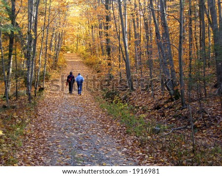September walk in Quebec - stock photo