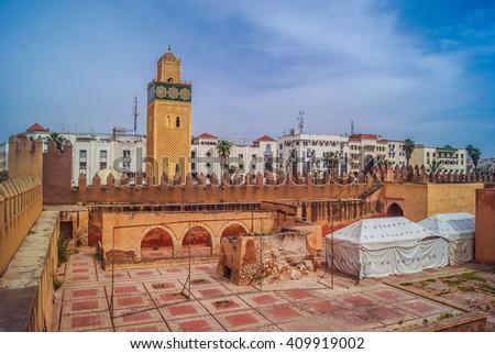 Septet is historic city near Casablanca, popular touristic destination, Morocco. / Settat old center Morocco. - stock photo