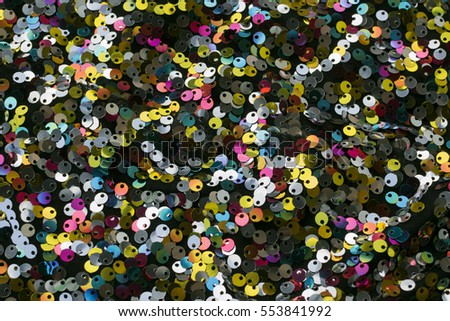 Sequins sparkling fabric multicolor background