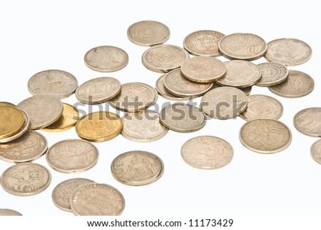 Serbian dinars - stock photo