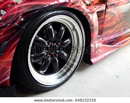 SEREMBAN, MALAYSIA  MAY 20, 2017: Caru0027s Shiny Sport Rims Design With Fix