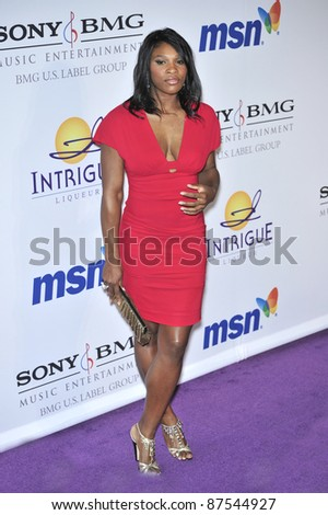 Serena Williams at music mogul Clive Davis' annual pre-Grammy party at the Beverly Hilton Hotel. February 9, 2008  Los Angeles, CA Picture: Paul Smith / Featureflash - stock photo