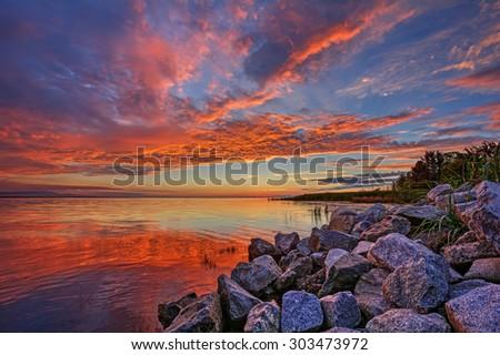 Serene waters  - stock photo