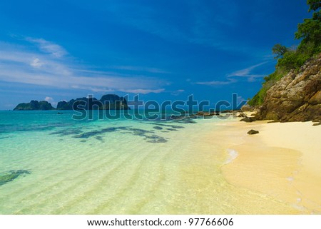Serene Waters Idyllic Scene - stock photo