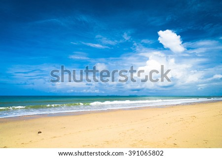 Serene Waters Sunshine Surf  - stock photo