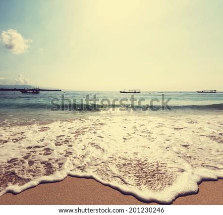 Serenity beach - stock photo